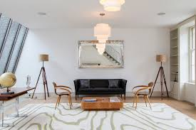 torch floor l living room midcentury with large mirror large
