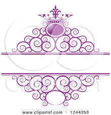 Purple Swirls Border Clipart 1
