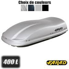 coffre de toit coffre de toit gris f3 400 litres