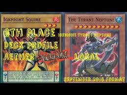 Constellar Deck Link Format by 6th Place Igknights U0026 Tyrant Neptune Aether Yu Gi Oh Local
