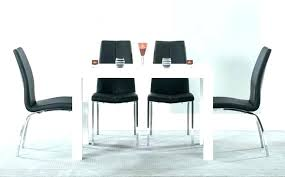 Table With 6 Chairs White Dining And Black High Gloss Sets Great Furniture