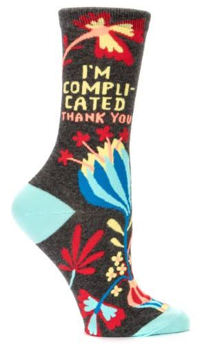 Blue Q - I'm Complicated Crew Socks | Women's