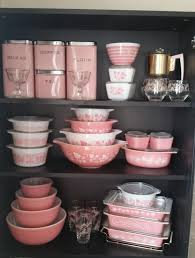 Isnt This Vintage Pink Collection Perfect For A Retro Kitchen