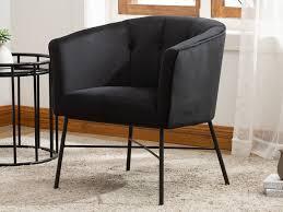 lounge sessel fakart samt schwarz
