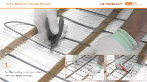 Warm Tiles Easy Heat Instructions by How Fast And Easily You Can Repair A Heating Cable By Special