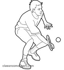Tennis Player Clipart Black And White ClipartXtras