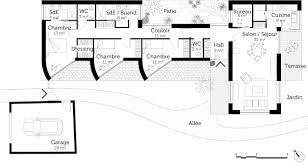 plan maison en l plain pied 3 chambres plan maison plain pied 3 chambres élégant plan maison gratuit le