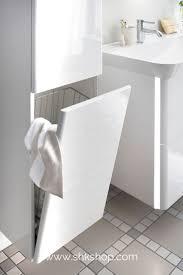 burgbad iveo badezimmer hochschrank mit wäschekippe