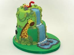 Unique Baby Shower Jungle Cake For Your Memorable Baby Shower Party