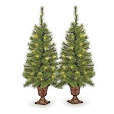 Pre Lit Porch Christmas Trees by Prelit Cashmere Porch Tree 2 Pack