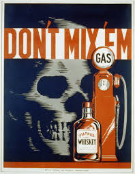 Wpa Poster Design Drink And Drive
