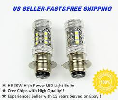 new yamaha h6 80w motorcycle hid white led headlights bulbs
