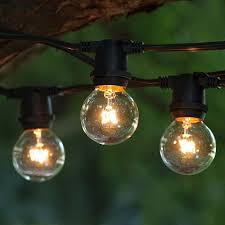 outdoor commercial string globe lights 24ft 24 sockets and