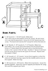 bunk bed plans pdf bed plans diy u0026 blueprints