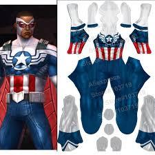 Hero Catcher High Quality Newest New Captain America Costume Falcon Spandex Suit Zentai