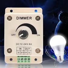 white led dimmer switch dc 12v 24v 8a adjustable brightness