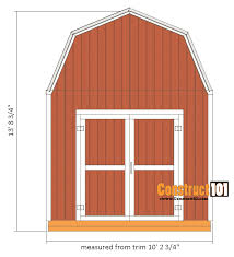 10x12 Barn Shed Kit by Shed Plans 10x12 Gambrel Shed Construct101