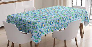 Amazon.com: Lunarable Blue Floral Tablecloth, Ornate ... Chair Upholstered Floral Design Ding Room Pattern White Green Blue Amazoncom Knit Spandex Stretch 30 Best Decorating Ideas Pictures Of Fall Table Decor In Shades For A Traditional Dihou Prting Covers Elastic Cover For Wedding Office Banquet Housse De Chaise Peacewish European Style Kitchen Cushions 8pcs Print Set Four Seasons Universal Washable Dustproof Seat Protector Slipcover Home Party Hotel 40 Designer Rooms Hlw Arbonni Fabric Modern Parson Chairs Wooden Ding Table And Chairs Room With Blue Floral 15 Awesome To Enjoy Your Meal