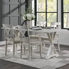 Boraam Industries Jamestown 5-Piece Dining Set In White Wash ... Cctab1139so4tldwwsv Cottage Whitewashed Ding Table Windsor Kitchen Farmhouse Ding Room Table Makeover Whitewash Top And White Chalk White Washed Room Chairs Ethan Allen Tables And Wash With Metal Rustic Wooden Set Of Six Aged With Fabric Seat Whosale Priced Amazoncom Acme Fniture 74685 Rosetta Ii Trestle Washed Chairs Dreamselectricco 38quot In How To Whitewash Cedar Make A Modern