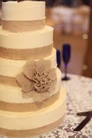 Rustic Wedding Ideas Cake Burlap