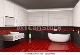 badezimmerinnere 3d badezimmer mit schwarzen weißen wänden