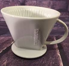 Starbucks Pour Over White Ceramic Brewer Drip Coffee Maker