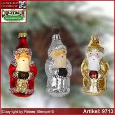 Christmas Tree Ornaments Santa Claus Mini Glass Figure Shape Collectible Lauscha Art R