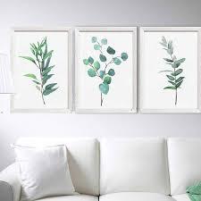 silver dollar eucalyptus print set 3 watercolor painting