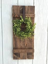 Farmhouse Shutter Wall Decor Rustic By KeywheatKreations
