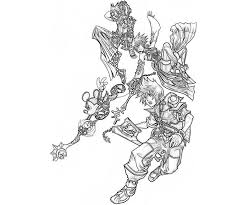Printable Kingdom Hearts Roxas Characters Coloring Pages