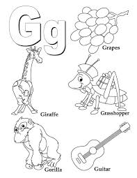 My A To Z Coloring Book Letter G Page