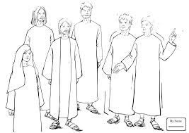 Coloring Pages For Kids Peter Preaching At Pentecost Christianity Bible Saint