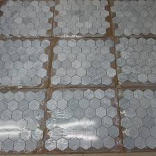 carrara white 2 inch hexagon mosaic tile tumbled marble from