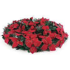 6ft Pre Lit Pop Up Christmas Tree by The 6 U0027 Pop Up Poinsettia Tree Hammacher Schlemmer