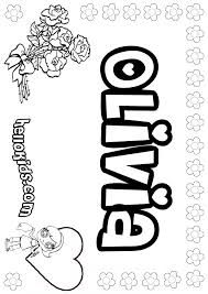 Olivia Coloring Page Color Online Print