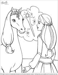 Barbie Meet Horse Pegasus Coloring Pages