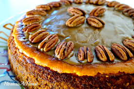Pumpkin Pie With Pecan Praline Topping by Pumpkin Pecan Cheesecake Hostess At Heart