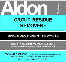 Removing Grout Haze From Porcelain Tile by Grout Residue Remover By Aldon For Stains From The Grouting Process