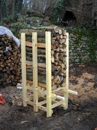 Firewood Rack Brackets 2x4 Pipe Log Plans Outdoor Wood Storage
