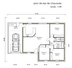 plan maison plain pied 3 chambre plan maison 100m2 3 chambres plan maison bois kit plain pied