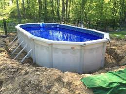 Buttress Oval Swimming Pool Above Ground Pools Intex