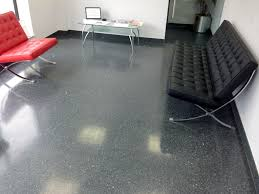 Decorating Outstanding Bathroom Design With Terrazzo Flooring And