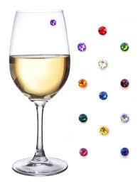 Wine Themed Kitchen Set by Amazon Com Swarovski Crystal Magnetic Wine Glass Charms Set Of