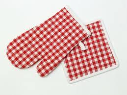 maniques cuisine manique et gant de cuisine en coton vichy selartex