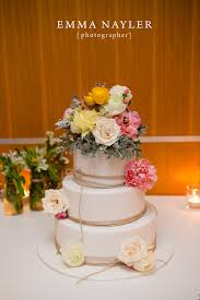 For Rani And Alecs Beach Wedding They Prettied Up A Classic White Sugar Paste Iced Three Tier Cake With Colourful Fresh Flowers Included The Unique