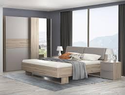 schlafzimmer set komplett 4 teilig bianco eiche basalt grau