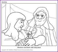 Coloring Abraham And Sarah With Baby Isaac