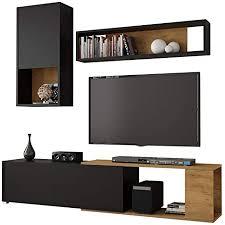 selsey caiara wohnzimmer set wohnwand in schwarz eiche 3