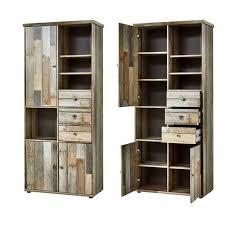 wohnzimmer komplett set driftwood braun industrial design branson 36