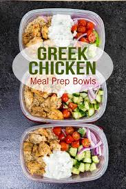 Greek Chicken Meal Prep Bowls Are Great For Healthy Eating